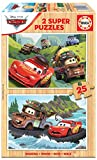 Educa 18877 Disney Cars Wooden 2 Puzzles Infantiles de Madera de 25 Piezas. +4 años. Ref