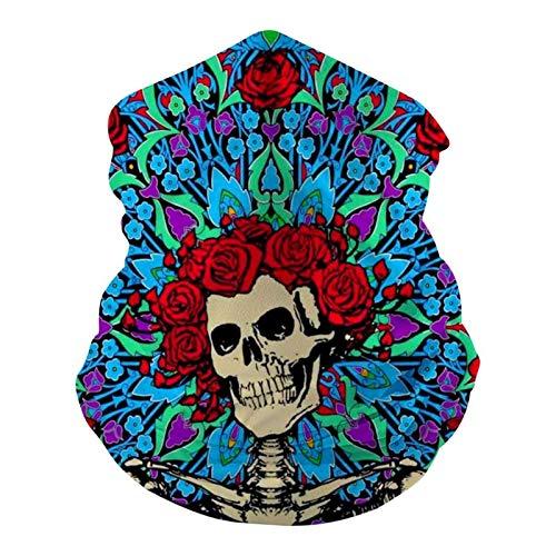 Dead Grate-ful Danc-ing B-Ear 2 Adultos Bandanas Mascarilla Fresco Ligero Cuello Polaina Mitad Cara Cubre Diademas Al Aire Libre
