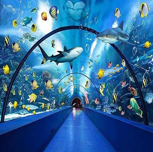 Tapetenserie Neue 3D-Unterwasserwelt Delfin und Wal Hintergrund-430 * 300