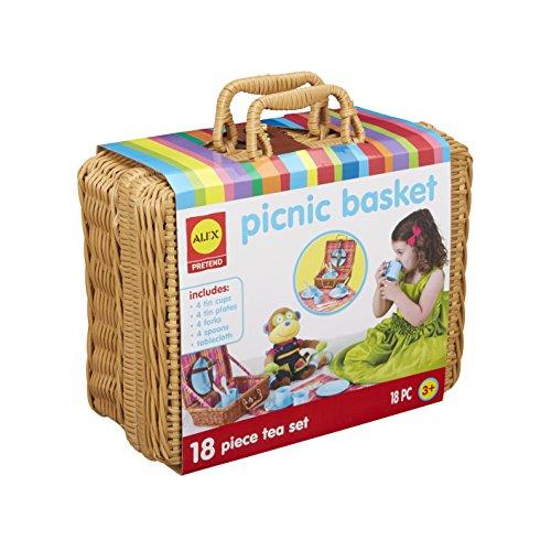 picnic items for kids Alex Pretend Picnic Basket Kids Set, 18 Piece