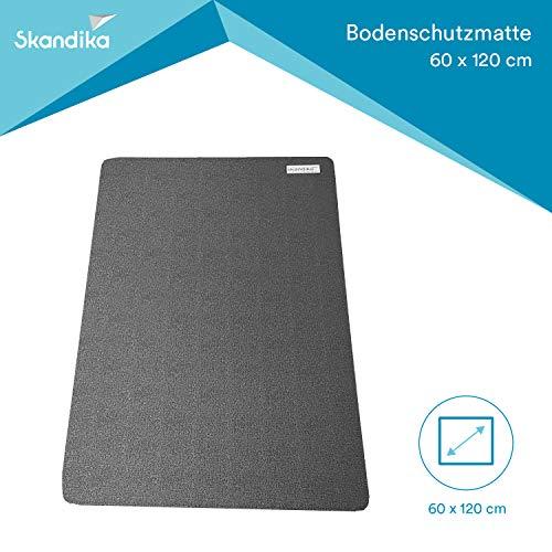 SKANDIKA Bodenschutzmatte für Fitnessgeräte (60x120cm)