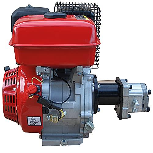 CROSSFER Hydraulikaggregat LSA270CC-CN mit 9PS Benzinmotor inkl. Zahnrad Hydraulikpumpe 200bar für Holzspalter, Kipper und hydraulische Pressen
