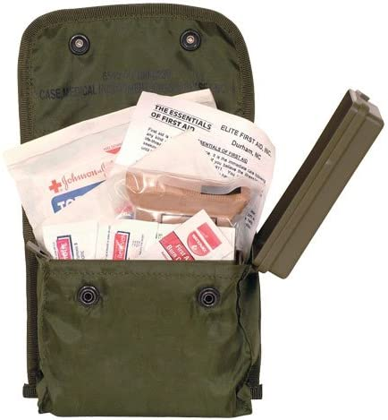 Fox Outdoor Products GI Issue 5 popular Individual Soldier First Aid Kit Super intense SALE