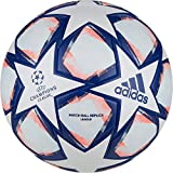 adidas Fin 20 LGE Soccer Ball, Men's, White/Team Royal Blue/Signal Coral/Sky Tint, 5