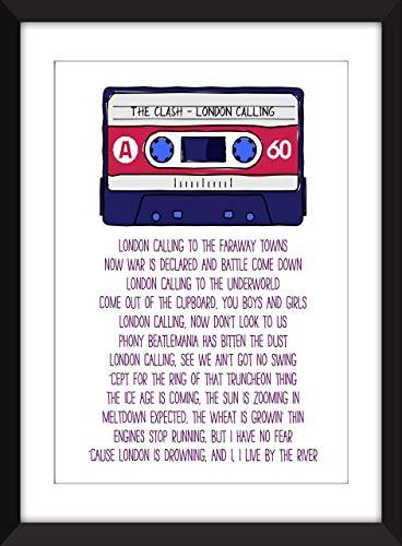 The Clash London Calling Lyrics Unframed Print/Ungerahmter Druck
