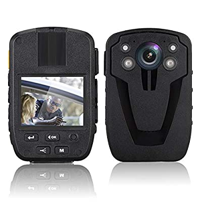 1440P HD Police Body Camera, 64G Memory Portable Body Camera, Waterproof Body-Worn Camera with 2 Inch Display, GPS for Law Enforcement Recorder, 140° Wide Angle, Night Vision, Motion Detection from Kacsoo