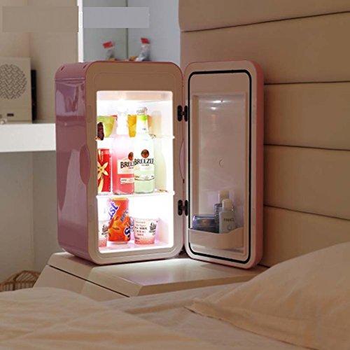 SL&BX Mini haushaltskühlschrank, Kleiner kühlschrank 16l schlafsaal büro Brust Milch Kosmetik Medizin kühlschrank-Rosa 27x26.6x49.3cm(11x10x19inch)