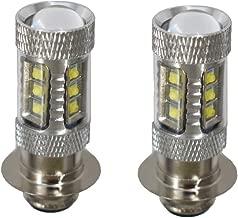 WFLNHB 2 Pcs Super White LED 100w Headlights Bulbs for Honda Rancher 350 400 Recon 250