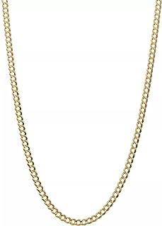 سلسلة أصلية من الذهب عيار 10 قيراط كوبي، سلسلة ربط كوبية 2.5 مم، سلسلة دائرية ذهبية، سلاسل 10 قيراط سلاسل من الذهب عيار 1...