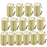 BAOBIAN Rechargeable SC Sub C Power Tools Battery with Tabs 4000mAh 1.2V NiCd (15 Pcs)