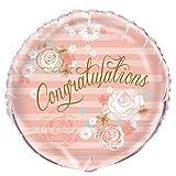 Unique Party 53996 Globo de felicitaciones