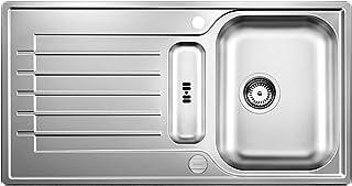 BLANCO ZIA 5 S - Rechteckige Edelstahlspüle für 50 cm breite Unterschränke für die Küche - 514616