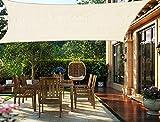 HENG FENG Toldo Vela de Sombra Rectangular 2 x 3 m Protección Rayos UV Solar Protección HDPE Transpirable Aislamiento de Calor para Dar Sombra a su Jardín Color Beige