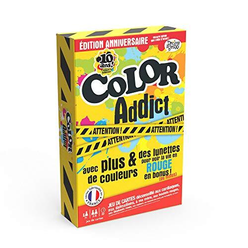 Cartamundi- Color Addict édition Anniversaire 10 Ans-Drôles Jeu de Cartes, 130008031