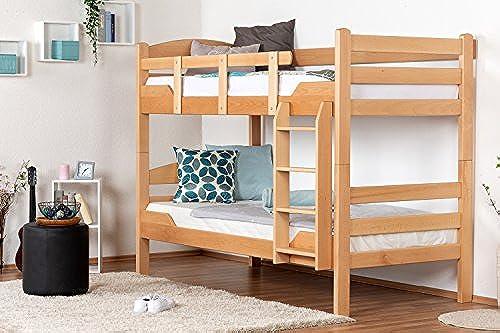 Etagenbett für Erwachsene Easy Premium Line  K3 n, Buche Vollholz massiv Natur - 90 x 200 cm (B x L), teilbar