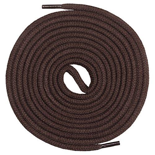 Mount Swiss runde Premium-Schnürsenkel aus 100% Baumwolle - sehr reißfest Farbe Braun Länge 130cm