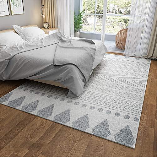 MLKUP Printed Rectangular Skin-Friendly Floor Mat Bohemian Style Wear-Resistant Coffee Table Bedroom Bedside Foot Pad Suitable For Bedroom Bathroom Living Room Hotel Kindergarten 120x160cm