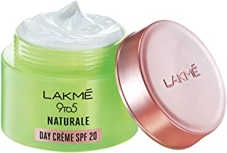 Lakme 9 to 5 Naturale Day Crème, SPF 20 PA++, Face Cream With Aloe Vera And Glycerine, Sun Protection For Hydrated Skin, 50 g