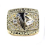 Fei Fei Anillo de Campeonato, Rugby 1998 Atlanta Falcons Championship Ring Ventiladores de los Hombres joyería Medida de Anillo 11,Without Box,11