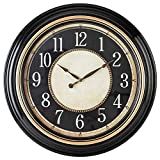 Pacific Bay Norden Huge Decorative Light-Weight 23-inch Wall Clock Silent, Non-Ticking, 3-D Dial, Easy-to-Read, Quartz...