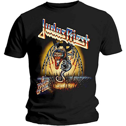 Tee Shack Judas Priest A Touch of Evil Painkiller Oficial Camiseta para Hombre