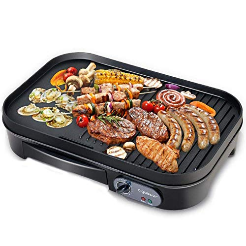 Raclettes,Elektrogrill Tischgrill,Grill und Plancha, 1800 Watt, Schwarz