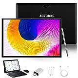 Tablet 10 Pulgadas Baratas y Buenas Android 9.0 3GB RAM /32GB/8000AH / Tarjeta SIM Dual/GPS/WiFi/Teclado Bluetooth/Mouse/OTG/Cubierta para Tablet PC, etc. - Negro