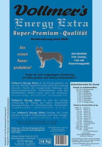 Vollmer's 37165 Hundefutter Energy Extra 15 kg
