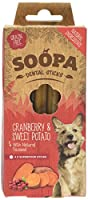 Soopa Cranberry & Sweet Potato Dental Sticks 100g, 100% natural. Low in fat, calories & protein hypoallergenic & pet nutritionist approved Fight bad breath & aid digestion Winner of PPRA best pet product award Item display weight: 100.0 grams. Age ra...