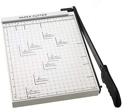 Papierschneider, A2-B7 Papierschneider, Schneidemaschine, gerastet, 45,7 cm Schnittlänge, Foto-Schneidemaschine A4-white(32.5x25cm)