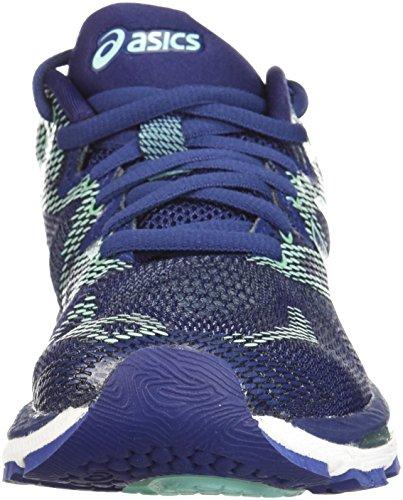 ASICS Women's Gel-Nimbus 20 Running Shoe, indigo blue/indigo blue/opal green, 7 Medium US 4