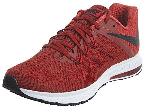 Nike Herren Zoom Winflo 3 Laufschuhe, Rot (Rojo/(Dark Cayenne/Black/University Red) 000), 43 EU