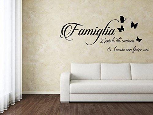SpotApplick Adesivo Murale Wall Sticker Adesivo Per Parete Casa Famiglia Amore Cucina Soggiorno