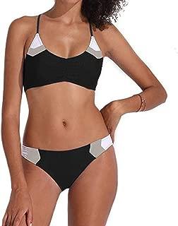 Women Patchwork Bandage Two Pieces Bikini Swimsuit Beachwear Set Swimwear