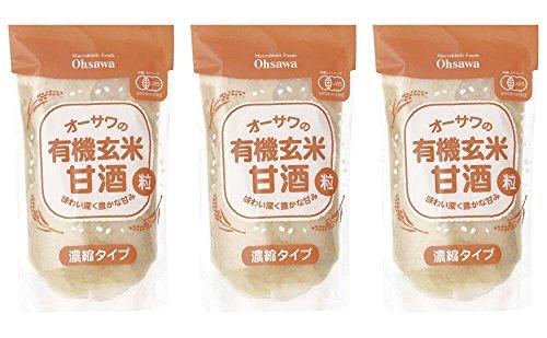 オーサワの有機玄米甘酒(粒) 250gx3個セット
