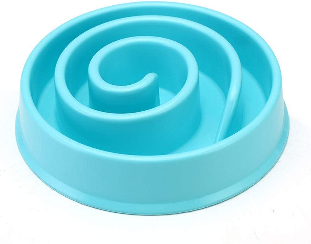 Blue Ramble Alimentador de Mascotas Taz/ón para Perros Comida Lenta Hinchaz/ón Parada Plato de Comida Bandeja para Gatos