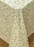 Broder Manufacturing Inc Vine Time Flannel Backed Vinyl Tablecloth, 60x84 Oblong (Rectangle)