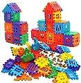 DEJUN Plastic Blocks Toys, Kids Building Blocks Set, Construction Play Board Building Blocks Recreational Educational Conventional Toys Gift for Boys Girls (68PCS)