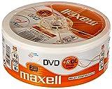 Maxell 276078 - DVD+R (8,5 GB DL, Doble Capa, 8 velocidades, 8,5 GB, 25 Unidades, imprimible)