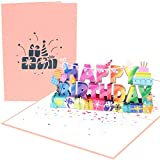 PopLife 'Happy Birthday!' 3D Pop Up Card - Big Happy Birthday Sign, B-day Message, Surprise Birthday Card - for Husband, for Wife, for Boyfriend, for Son, for Girlfriend, for In-laws, for Friend, for Teacher