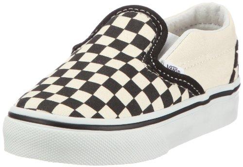 Vans Unisex Baby Classic Slip-On - Black/White Checkerboard - 4 Infant
