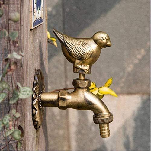 Garden Tap Faucet Animal All Copper Single Cold Garden Antifreeze Sunscreen Mop Pool Washer Sparrow Dove Bibcocks