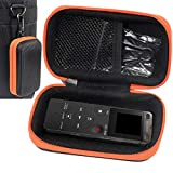 Digital Voice Recorder Case for Sony ICDUX560BLK, Yemenren Voice Recorder, Yemenren 8GB, eBoTrade Digital Voice Recorder, Dennov 8GB, TOOBOM R75, Evistr 8GB Digital Audio Sound Recorder, Black+ Orange