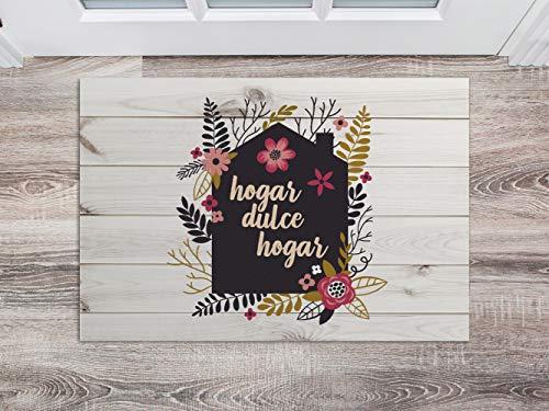 Oedim Felpudo Hogar Dulce Hogar para Habitaciones PVC   60 x 40 cm   Moqueta PVC   Suelo vinílico   Decoración del Hogar   Suelo Sintasol   Suelo de Protección Infantil  