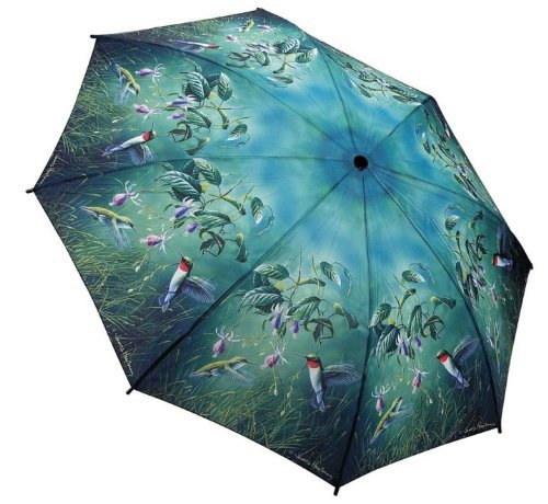 Galleria Humming Birds Folding Umbrella