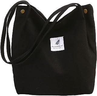 Damen Umhängetaschen Canvas Handtasche Shopper Casual groß Tasche Chic Schultertasche Einkaufstasche Henkeltasche für Schu...
