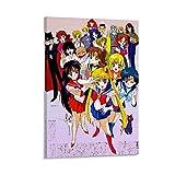 Póster de la primera temporada de Sailor Moon y arte de pared moderno para decoración de dormitorio familiar de 50 x 75 cm