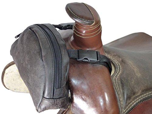 Thor Equine Pommel Pocket Leder Satteltasche Western Packtasche braun