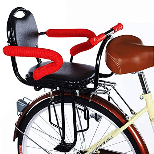ZGKJ Asiento Trasero De Seguridad para Niños En Bicicleta, Portabicicletas Universal Asiento para Niños Pequeños con Reposabrazos Trasero Pedales