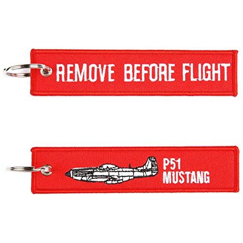 Remove Before Flight P-51 Mustang sleutelhanger sleutelring